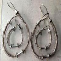 液压机械防爆链 油管保险安全防护钢丝绳 弹簧钢丝绳