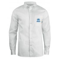 长袖白色职业衬衫加工