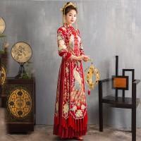 奥殿中式婚纱礼服古装嫁衣