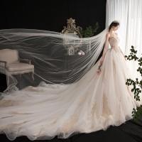 奥殿森林系法式婚纱
