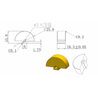 黄铜扇形偏心轮加工