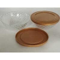 玻璃沙拉碗PP盖加工